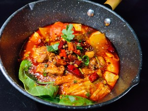 When tofu meets chicken, it is fresh and delicious, with meat and vegetables, balanced nutrition! Practice Step 4