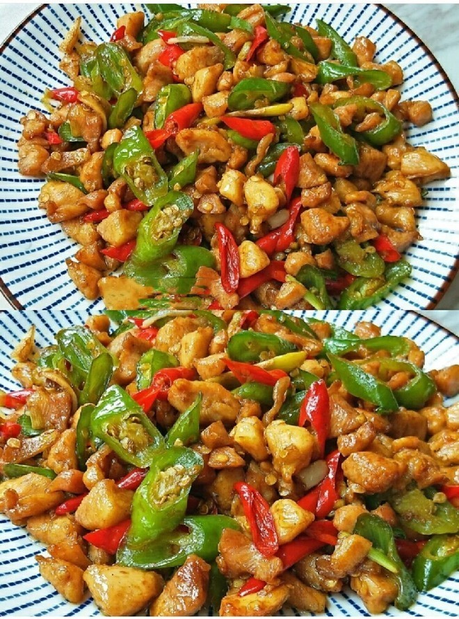 Quick-handed home cooking, spicy chicken diced, spicy food with zero failure