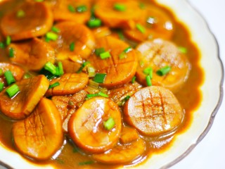 Pleurotus eryngii in oyster sauce is better than meat, every piece has the taste of meat.