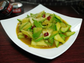 Spicy zucchini, finished picture