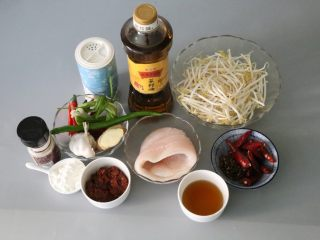Boil the fish fillets and prepare the ingredients you need.