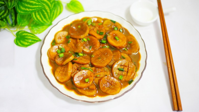 Pleurotus eryngii in oyster sauce that is better than meat